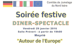"Diner spectacle ""Autour de l'Europe"""